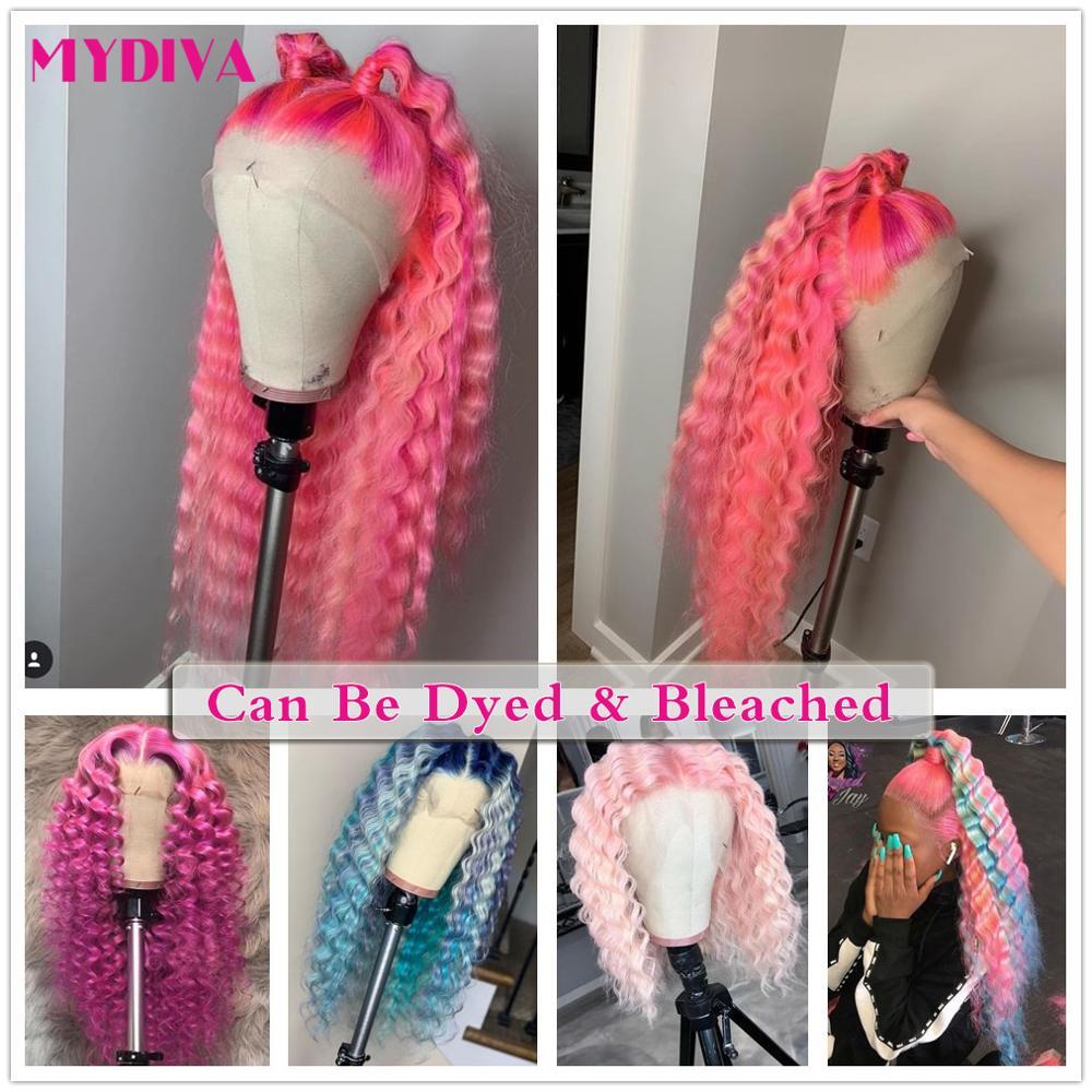 613 Bundles With Frontal Brazilian Deep Wave 3 Bundles With Closure Remy Human Hair Blonde Bundles W