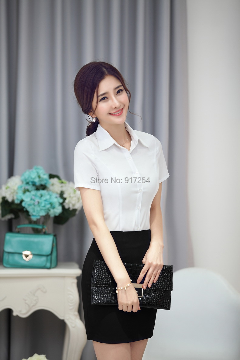 fde164d55b80 New 2015 Summer Elegant Fashion Women Blouses Suits With Skirt For Business  Work Wear Wear Formal Uniforms Clothing Set-in Skirt Suits from Women's  Clothing ...