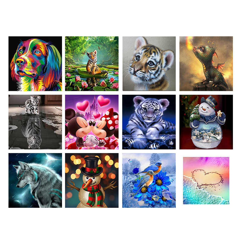 Full Drill 3D Diamond Painting Cross Stitch Kits Diamond Embroidery 5D Diy Diamond Mosaic Pattern Home Decor  Diamond Art