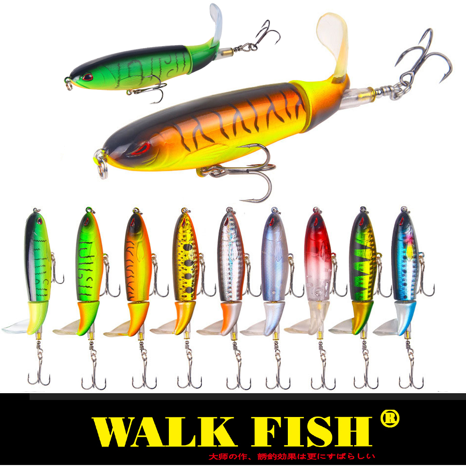 Walk Fish 1Pcs 13g/35g Whopper Popper Topwater Fishing Lure Artificial Fishing Tackle
