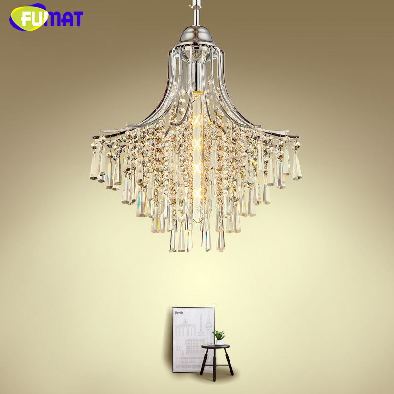 FUMAT Modern Restaurant Pendant Lights Luxury Art K9 Crystal Pendant Light For Living Room Dining Room LED Chrome Pendant Lamp modern fashion luxurious rectangle k9 crystal led e14 e12 6 heads pendant light for living room dining room bar deco 2239