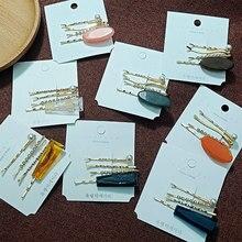 resin hair clip set women haar accessoires rhinestone metal barrette pearl hairclip toka accessoire cheveux