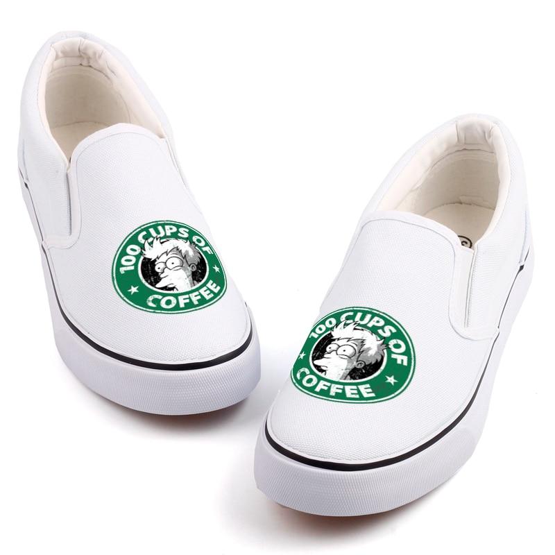 Novedad diseño de los holgazanes planos Casual zapatos para caminar fresco  Anime Fans impreso Cartoon zapatos de lona Tenis alpargatas Sapatos en Pisos  de ... 8618a11c4e1