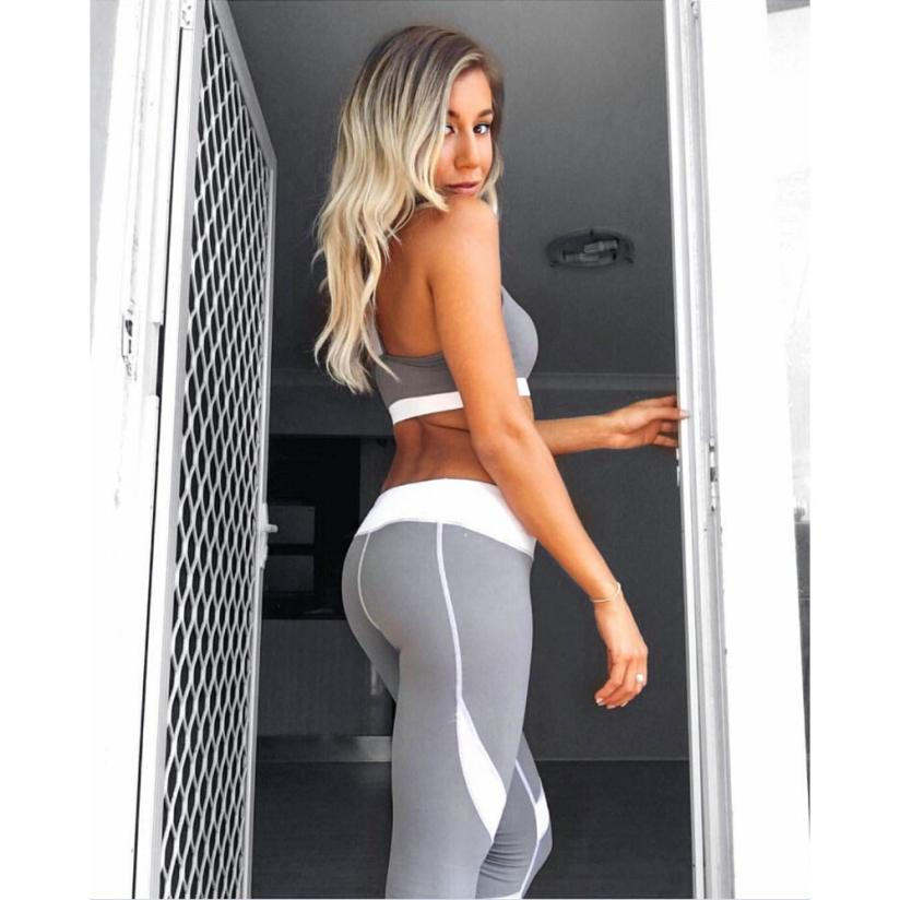Drop&Free Shipping Dance Cropped Sport Leggings Women Gift High Quality Gray Trousers For Womens Plus size jogging femme