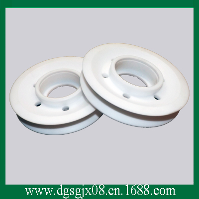 High Wear Resistance White   Insulation teflon Guide  Pulley For Wire Drawing Machine chrome oxide plated steel wire guide pulley for wire industry