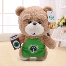 20cm In Apron Teddy Bear Ted Plush Toys Doll Cute Cosplay Soft Stuffed Animals for Kids Gifts