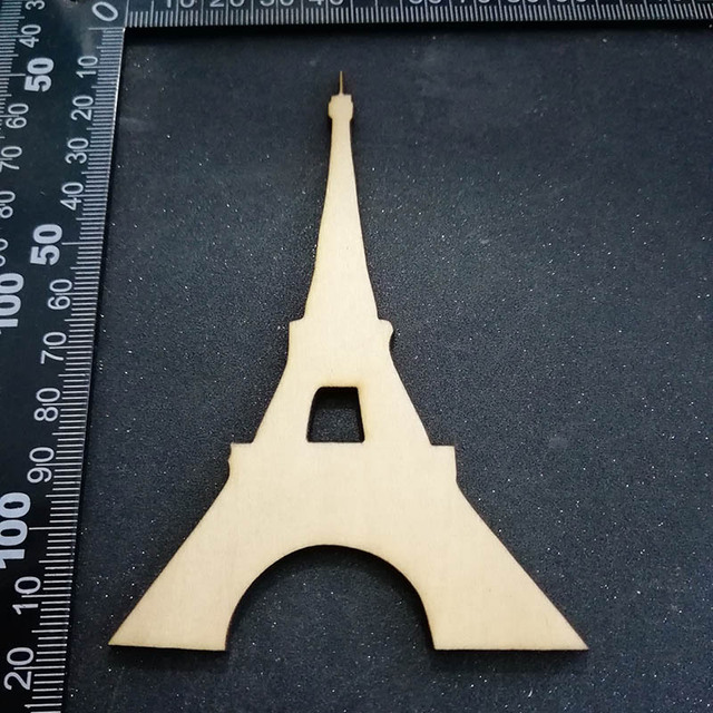 20pcs Blank Unfinished The Eiffel Tower Wood Shape Cut Out Diy
