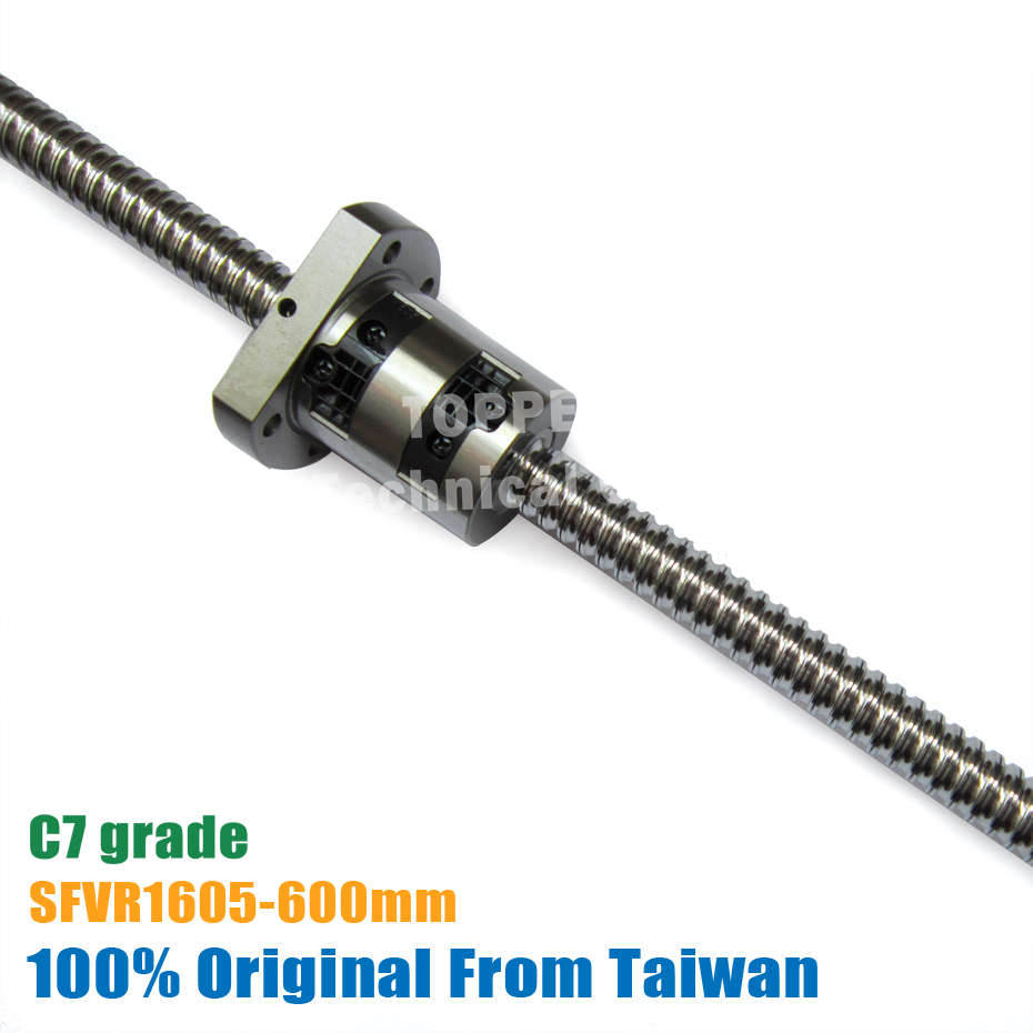 taiwan TBI 1605 C7 600mm ball screw 5mm lead with SFV1605 ballnut of SFV set end