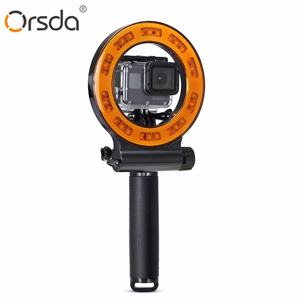 Diving Protective Housing Waterproof Case Shell 40m For Xiaomi 4k Yi Discovery Sl 109 30 Led Camera Video Light Outdoor Fill Gopro