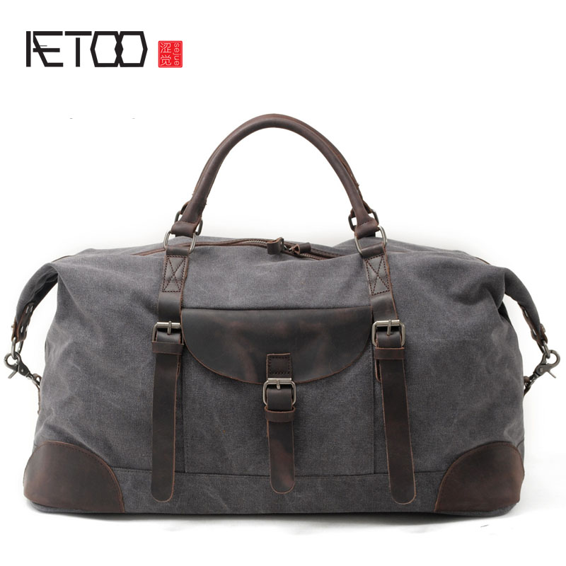 AETOO Cloth large capacity canvas travel bags male luggage bag mad horse leather large shoulder bag men travel duffle 2017 new fashion brand vintage backpack large capacity men male luggage bag canvas travel bags top quality travel duffle bag man