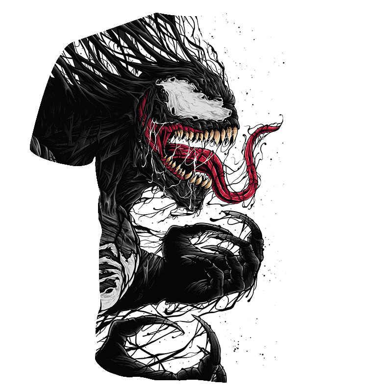 """BIANYILONG 2019 футболка Для мужчин Новые Venom Футболка """"Марвел"""" футболки с 3D-принтом Для мужчин Для женщин Повседневная рубашка Фитнес футболка Футболки-топы"""