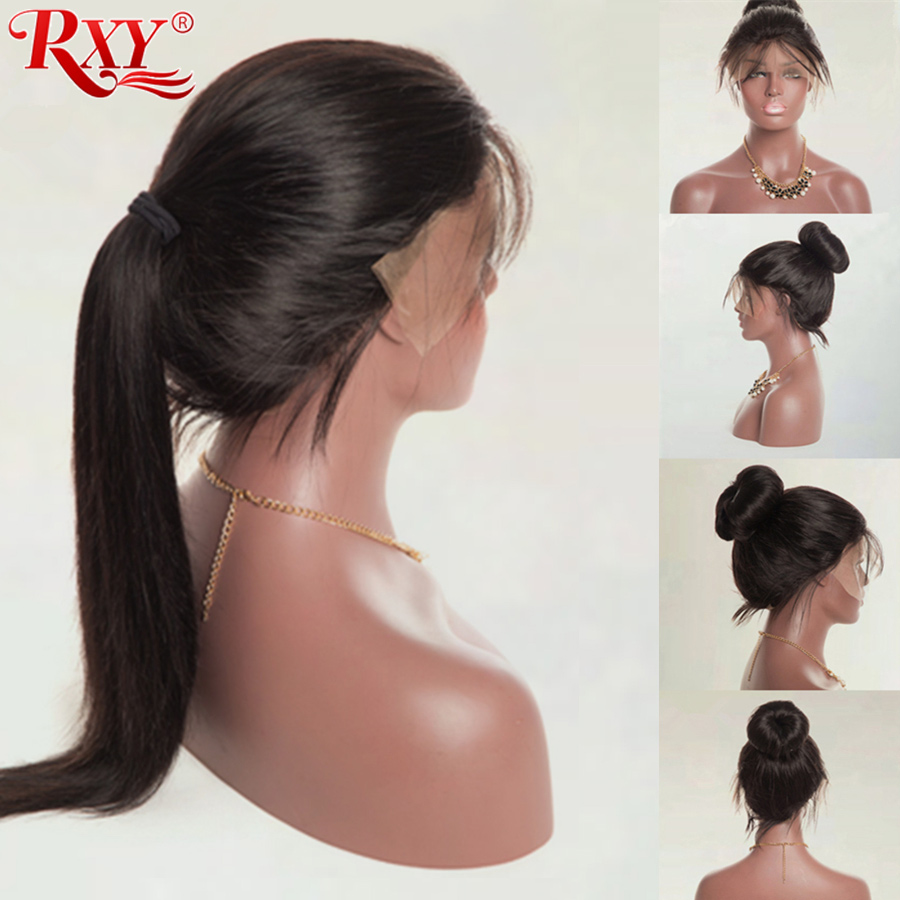 RXY Pre Plucked Full Lace Human Hair Wigs With Baby Hair Brazilian Human Hair Wigs Glueless Full Lace Wigs For Women Non Remy