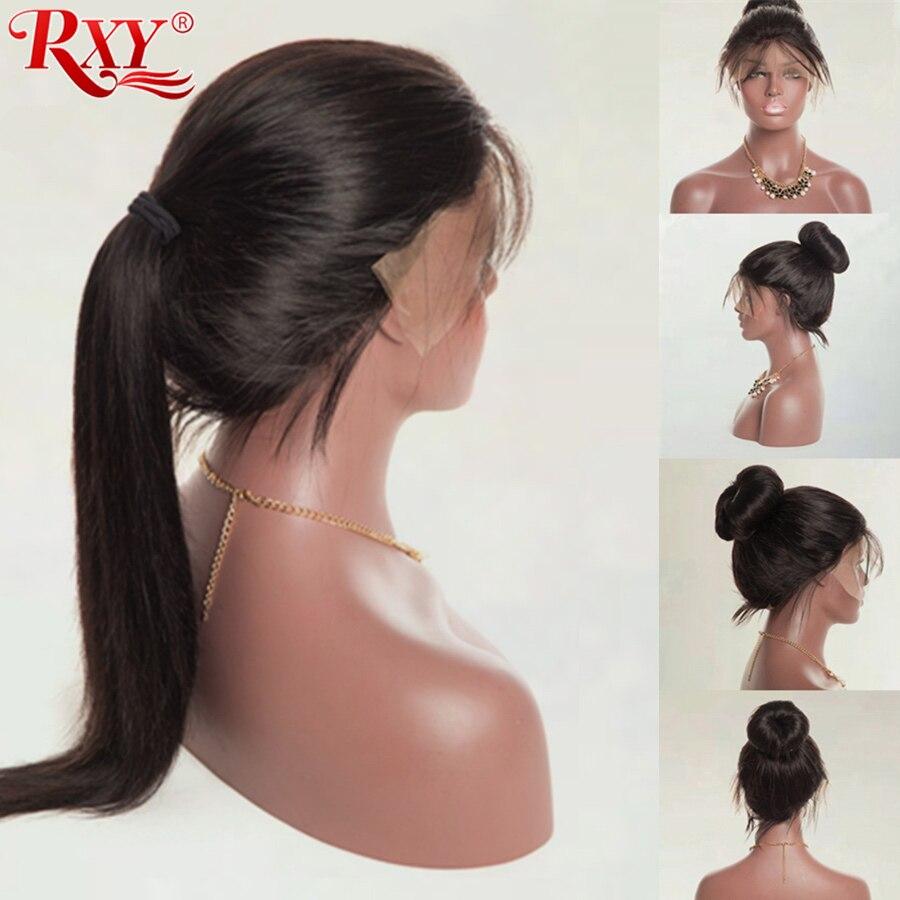 RXY Pre βουλωμένη πλήρη Lace ανθρώπινη περούκα μαλλιών με τα μαλλιά μωρών Βραζιλιάνικες περούκες ανθρώπινων μαλλιών Glueless περούκες Full Lace για γυναίκες μη Remy