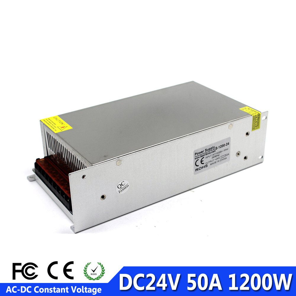 Universal Power Supply dc24V Regulated 50A 1200W Driver Transformer 220V 110V AC DC 24V Smps For