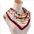 Новая Мода женская Работа Офис Шелковый Шарф Цветок Печати Районных Платок Случайные Рабочая Одежда Шарф