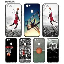 Black Silicon Soft Phone Case Dunk basketball God For OPPO F5 F7 F9 A5 A7 R9S R15 R17 Bag