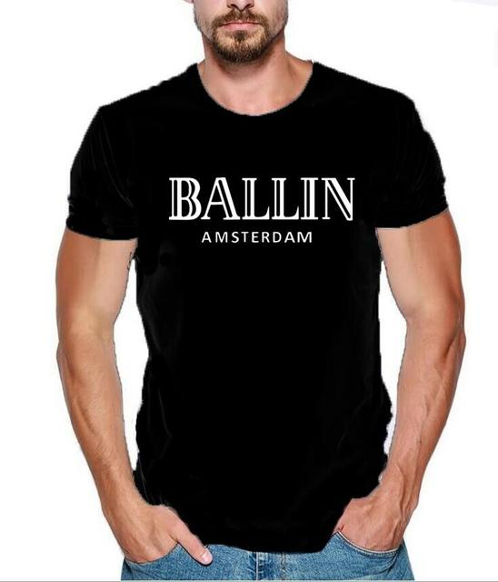 New Summer Fashion Men's Clothing O-Neck Ballin Amsterdam Graphic Unisex T- shirt Men Short Sleeve T Shirt Cool Cotton Tee Shirt