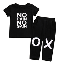 New Fashion Toddler Baby Kids Boys Clothes Short Sleeve T-shirt Tops+Long Pants 2Pcs Sets Baby Boys Summer Cool Suits