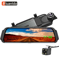 Bluavido 10 4G Android Car DVR mirror video Recorder FHD 1080P Car Camera GPS Navigation ADAS Dash cam WiFi BT rear view mirror