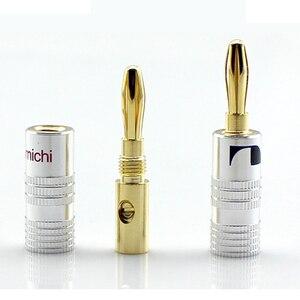 Image 3 - 12 50 pçs de alta fidelidade banana plug 24k banhado a ouro cobre bfa 4mm banana conector macho altofalante plug preto & vermelho