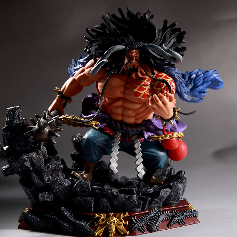 NEW hot 19cm One Piece Four Emperors Kaido Action figure toys doll Christmas gift no boxNEW hot 19cm One Piece Four Emperors Kaido Action figure toys doll Christmas gift no box