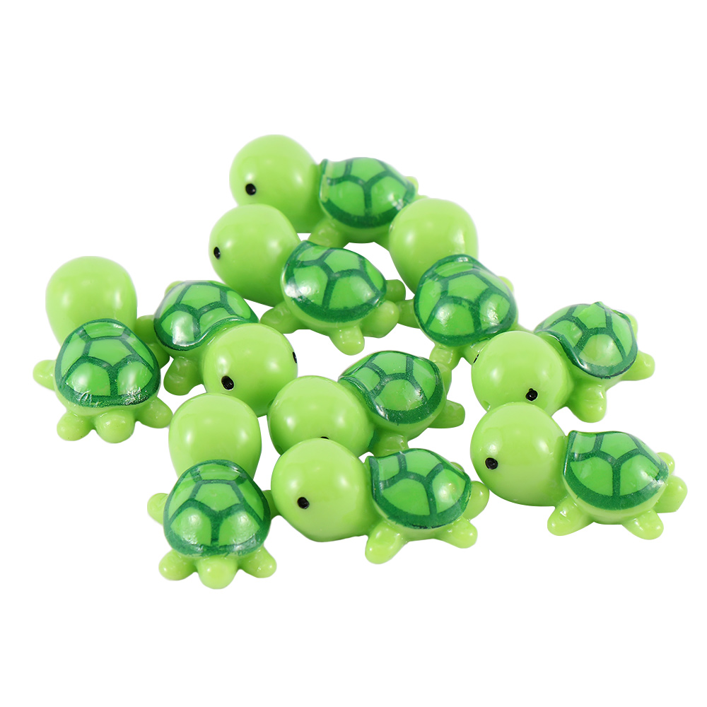 10 Pcs Mini Turtle Miniature Figurines Dollhouse Bonsai Garden Micro Landscape Decor fairy garden miniatures