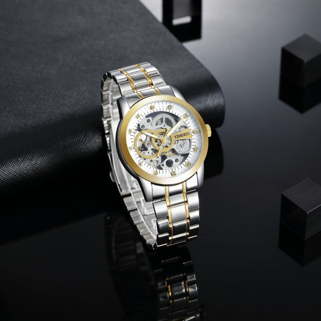 TIME100 - Mechanical Self-Wind Skeleton Space Watch 2
