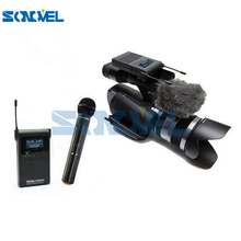 RW-2401 Pro 2.4GHZ Dual Channel Wireless Stereo Handheld Microphone+Battery+Charger for Camera Video Camcorder 3.5mm MIC DSLR