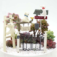 Miniature Garden Flowers Decorate Lovely Dog DIY Small Ornaments Home Decoration Children S Toys