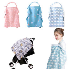 2020 Multifunction Baby Breastfeeding Cover Muslin Nursing Cloth Baby Infant Stroller Covers Outdoors Feeding Baby Nursing Cover