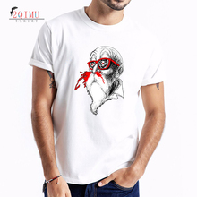 2QIMU Mens T-Shirts 2019 Funny Cartoon Printed Short Sleeve Summer O-Neck Casual Cotton Tops Tees