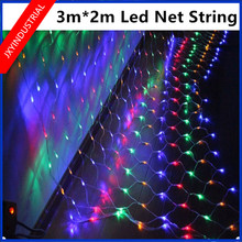 Led Net Lights Large Outdoor Christmas Decorations Garden Mesh Fairy Light Christmas Outdoor Waterproof