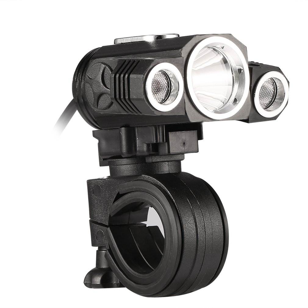 Adjustable MTB Road <font><b>Bicycle</b></font> Head Lamp USB Rechargeable 3 Mode X3 <font><b>T6</b></font> <font><b>LED</b></font> Bike Head <font><b>Light</b></font> 18650 Cycling Front Lamp Dropshipping image