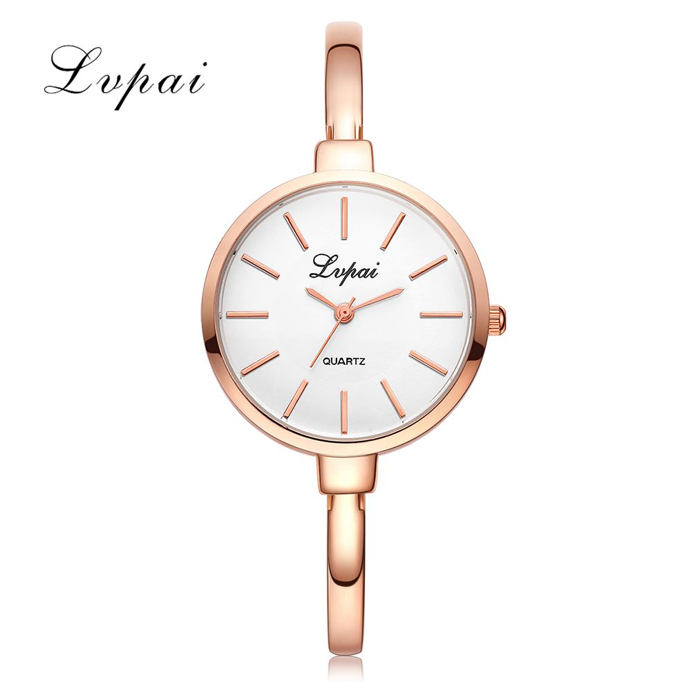 2017 LVPAI Brand Rose Gold Women Bracelet Watches Fashion Luxury Quartz-Watches Ladies Casual Dress Sport Watch Gift Clock LP103 2016 luxury brand ladies quartz fashion new geneva watches women dress wristwatches rose gold bracelet watch free shipping