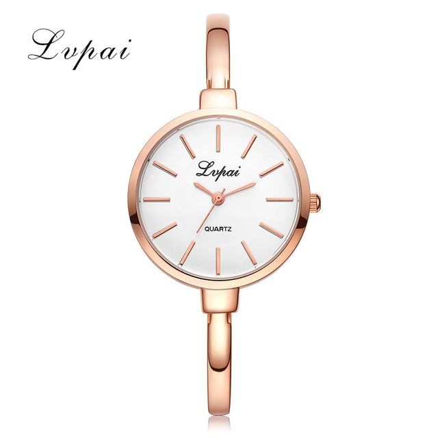 LVPAI Brand Rose Gold Women Bracelet Watches Fashion Luxury Quartz-Watches Ladies Casual Dress Sport Watch Clock Dropshiping