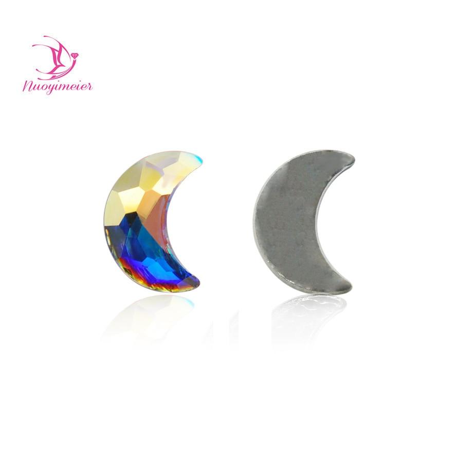 36pcs A2554 5x8 6X10mm Crystal AB Glitter Diamond Rhinestones Non Hotfix For Nails Art Bags Garment Shoes DIY Design Decoration