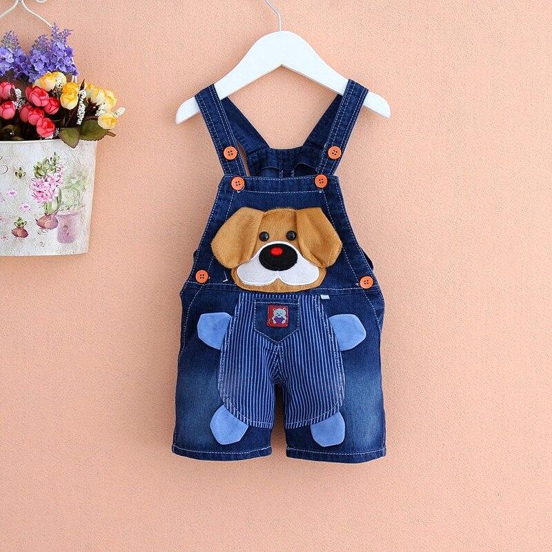 35668e922b Dibujos animados de verano niños jeans en general bebé recién nacido bebe  mezclilla cortos Mono para el niño bebé niños niñas BiB Pantalones v798 en  Monos ...