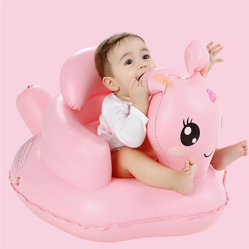 Inflatable Chair Multifunctional Baby Pvc Kids Seat Sofa Pink Bath Seats Dining Pushchair Infant Portable Play Game Mat For Baby