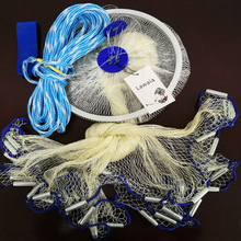 Lawaia Cast Nets for Fishing Diameter 2.4-7.2M Fishing Nets Hand Cast Network American Fishing Fish Mesh 1*1