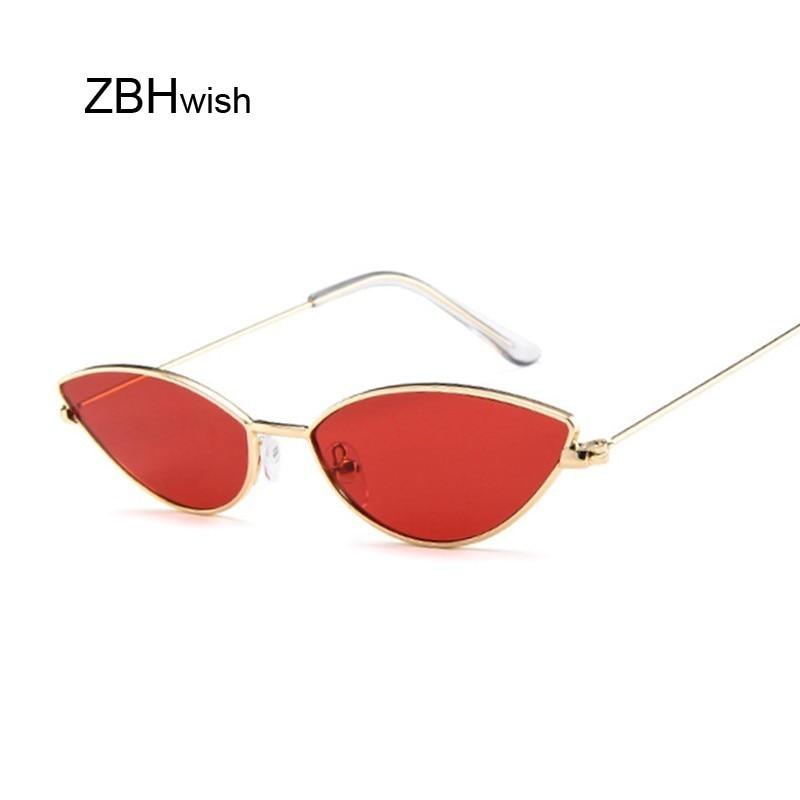 Bonito sexy cat eye óculos de sol feminino retro pequeno preto vermelho rosa cateye óculos femininos vintage tons para mulher
