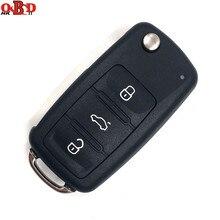 HKOBDII Flip Remote Car Key 3 Buttons 202AD With 48 chip For 2011-2013 Volkswagen VW Lavida Polo SAGITAR Tiguan 753AB
