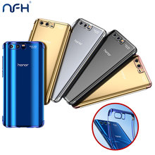 NFH Plating Bumper Transparent Clear Silicone Case For Huawei Honor 9 Honor 9 Lite Back Scratch Proof Soft TPU Cover On Honor 9(China)