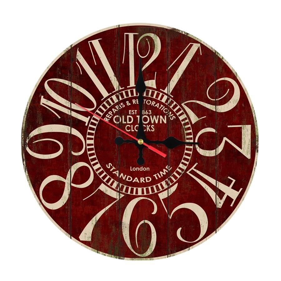 2017 Прямая поставка настенные часы домашнего декора кварцевые часы деревянные часы одно ...