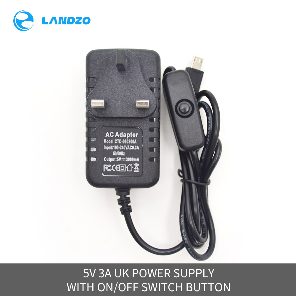 5V 3A Power Supply Raspberry Pi 3 B+ DC Power Adapter Switch Button UK Plug for Raspberry Pi 3 Model B +/35V 3A Power Supply Raspberry Pi 3 B+ DC Power Adapter Switch Button UK Plug for Raspberry Pi 3 Model B +/3