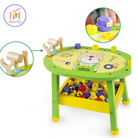 Children Pretend Play Toys Simulation Workbench Tools Set Wooden Model Building Kits Educational Construction Assemble For Kids