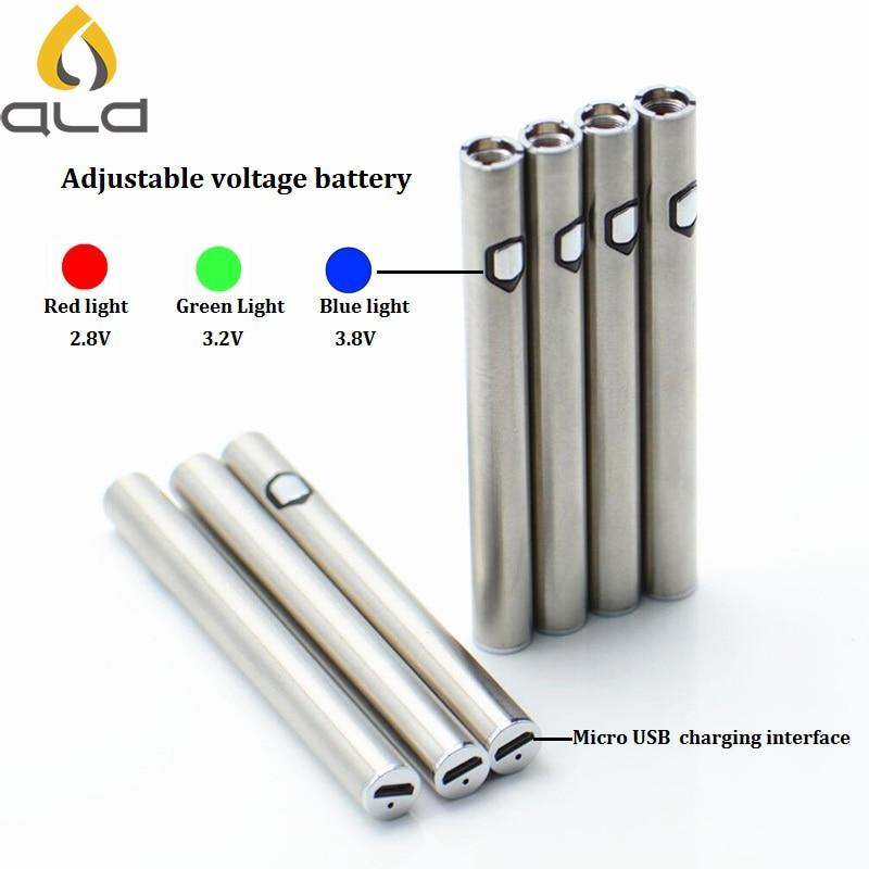 bilder für Ald cbd gewidmet einstellbaren spannungs zigaretten batterie 2,8 v-3,8 v für ce4 ce5 mt3 tank zerstäuber elektronische zigarette batterie