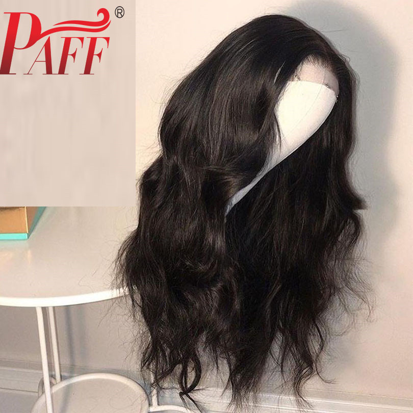 PAFF 4*4 Silk Base Glueless Human Hair Full Lace Wig 180% Remy Brazilian Body Wave Hair Silk Top PrePlucked Hairline