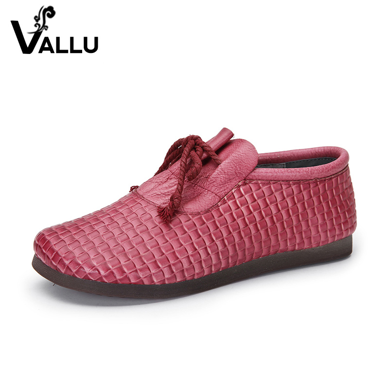 Famous Brand Women's Flat Shoes First Layer of Leather Female Moccasin Plaid Shoes Lace Up Super Soft Summer Lady Casual Flats cresfimix zapatos women cute flat shoes lady spring and summer pu leather flats female casual soft comfortable slip on shoes