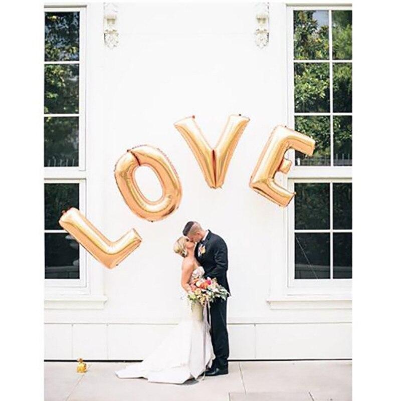 40 palců Gold Silver LOVE fólie balóny Velké hélium balón strany dopisy svatební dekorace abeceda vzduchu koule strany dodávky