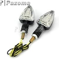 Pazoma Motorcycle LED Turn Signal Indicators for Yamaha YZF R1 R6 FZ1 600R Kawasaki ZXR ZX 6R 10R indicators motorcycle    -
